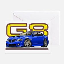 Pontiac_G8_blue Greeting Card
