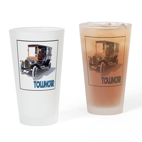 T-towncar-4 Drinking Glass