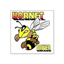 "HotHornet-10 Square Sticker 3"" x 3"""