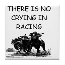 horse racing gifts Tile Coaster