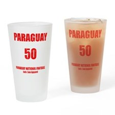 Paraguay football vintage Drinking Glass