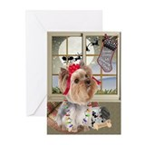 Yorkie lovers Greeting Cards (10 Pack)
