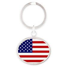 american-flag.gif Oval Keychain