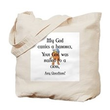 My God carries a hammer Tote Bag