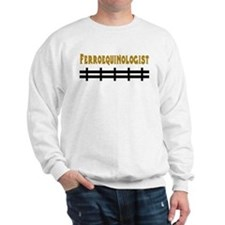 Ferroequinologist Sweatshirt, ash grey or white