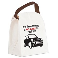 Like Driving a Go-Kart Canvas Lunch Bag