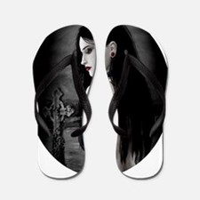 ruby dark oval Flip Flops