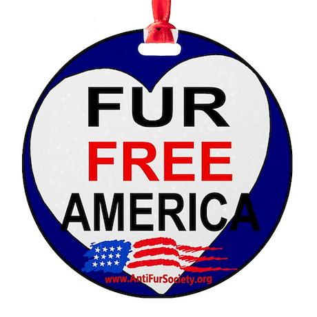 FUR FREE AMERICA2 Round Ornament