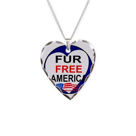 FUR FREE AMERICA2 Necklace Heart Charm