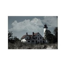 Point Iriquois Lighthouse Rectangle Magnet