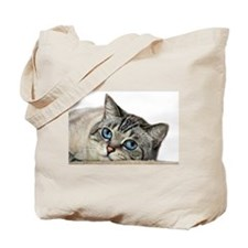 Blue Eyed Cat Tote Bag