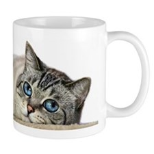Blue Eyed Cat Mugs