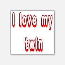 """lovetwin Square Sticker 3"""" x 3"""""""