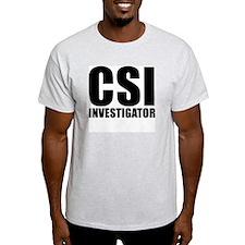 CSI Investigator Ash Grey T-Shirt