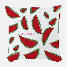 Watermelon In Finnish Woven Throw Pillow