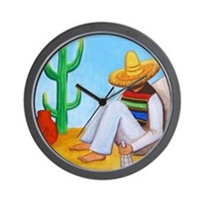 Mexican siesta Wall Clock