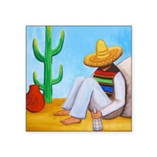 "Mexican siesta Square Sticker 3"" x 3"""