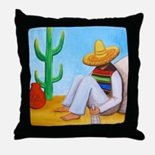 Mexican siesta Throw Pillow