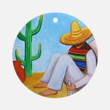 Mexican siesta Round Ornament
