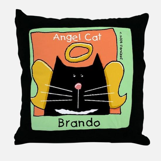 TUXEDObrando Throw Pillow