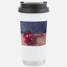 2-Door County Cherry Blue Tan Travel Mug