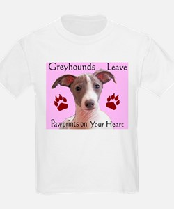 Pawprints on your heart Kids T-Shirt