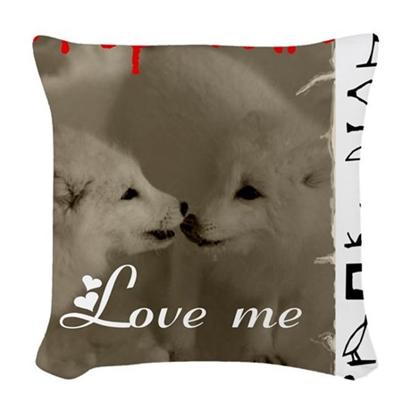 DROP FUR LOVE ME Woven Throw Pillow
