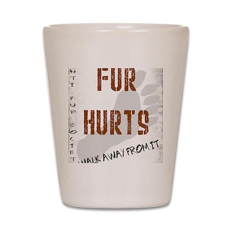 Fur walk away from it Shot Glass