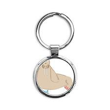 Walrus Round Keychain