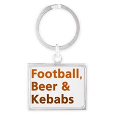 England football beer Landscape Keychain