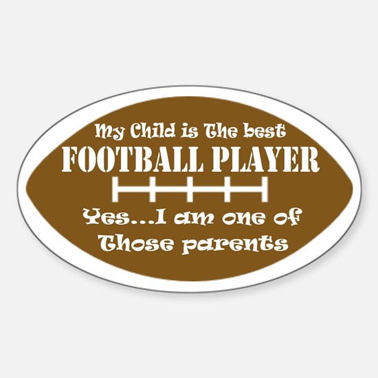 Football Sticker (Oval)