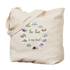 TeaTime Clock Tote Bag