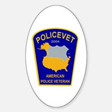 Policevet's Patch Oval Decal