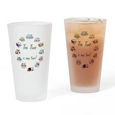 TeaTime Clock Drinking Glass