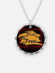 FUR FREE BUTTON2 Necklace