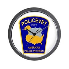 Policevet's Patch Wall Clock