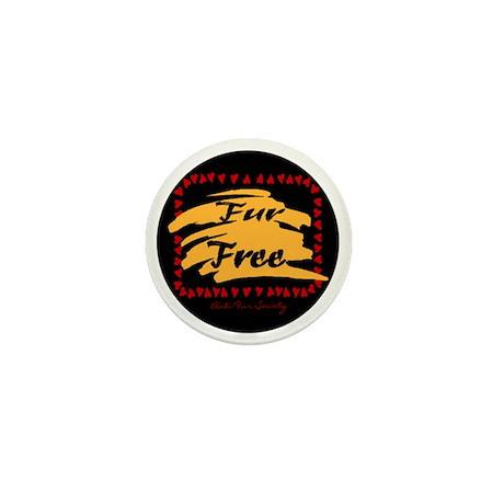FUR FREE BUTTON2 Mini Button