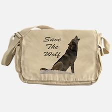 save the wolf Messenger Bag