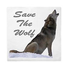 save the wolf Queen Duvet
