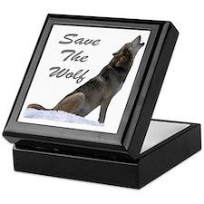 save the wolf Keepsake Box