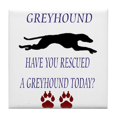 Greyhound Rescue Tile Coaster