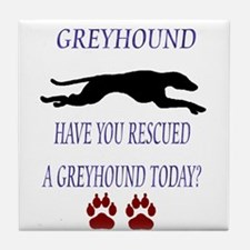 Greyhound Rescue Tile Coaster