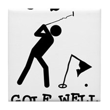 Doesn't Golf Well With Others Tile Coaster