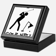Doesn't Golf Well With Others Keepsake Box