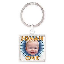 Jonah BDay Artwork2 Square Keychain