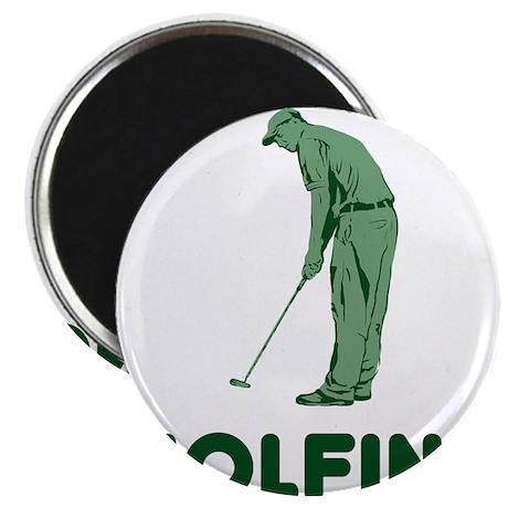 Golfing Is My Job Magnet