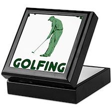 Golfing Is My Job Keepsake Box