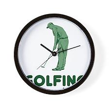 Golfing Is My Job Wall Clock