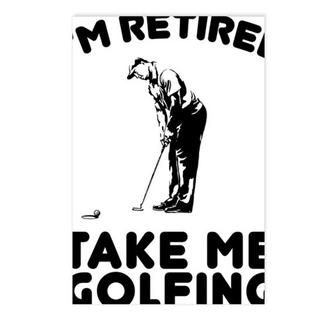 Take Me Golfing Postcards (Package of 8)