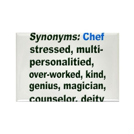 Synonyms: Chef Rectangle Magnet